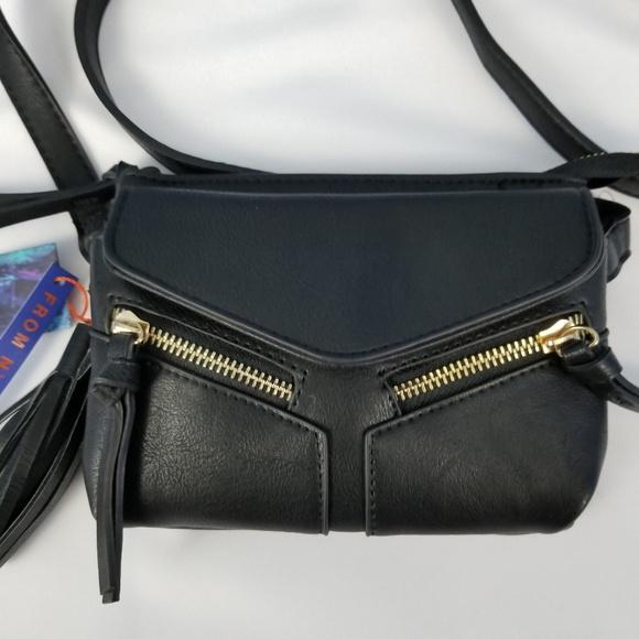 aeec02779c43  Violet Ray  black mini crossbody bag